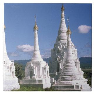 Asia, Myanmar, Inle Lake. Pagodas. 2 Tile