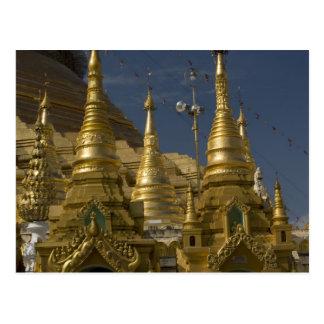 Asia, Myanmar, Yangon. Golden stupa of Shwedagon Post Cards