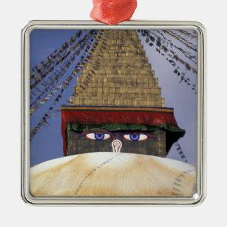 Asia, Nepal, Kathmandu. Bouddhanath Stupa. 2 Christmas Ornament