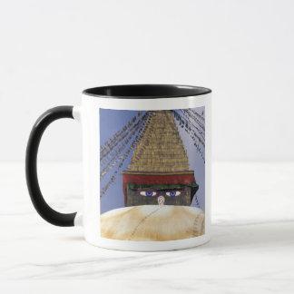Asia, Nepal, Kathmandu. Bouddhanath Stupa. 2 Mug