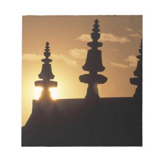 Asia, Nepal, Kathmandu. Bouddhanath Stupa. Notepad