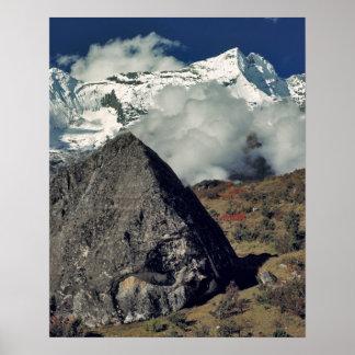 Asia, Nepal, Sagarmatha NP. A Buddhist prayer Poster