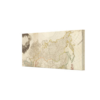 Asia north canvas print