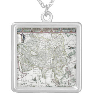 Asia noviter delineata, 1617 silver plated necklace