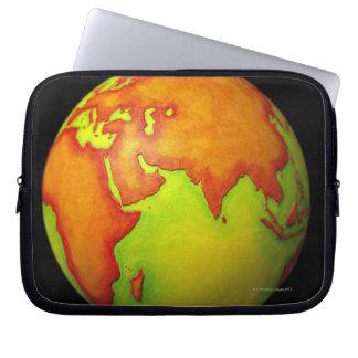 Asia on a Globe Laptop Sleeve