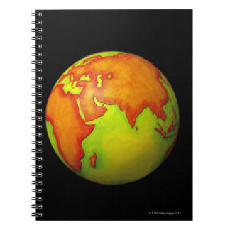Asia on a Globe Notebook
