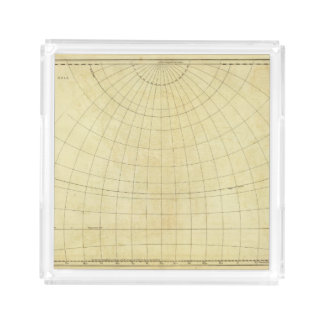 Asia Outline Acrylic Tray