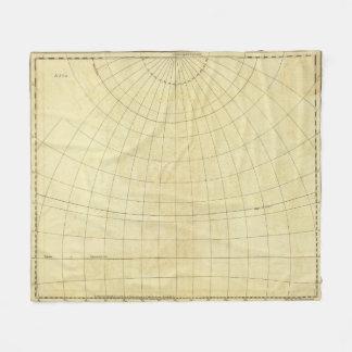 Asia Outline Fleece Blanket