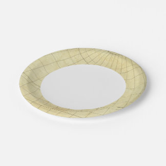 Asia Outline Paper Plate
