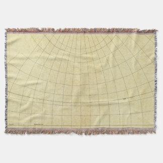 Asia Outline Throw Blanket