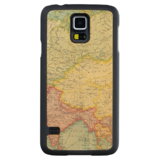 Asia political atlas map carved maple galaxy s5 case