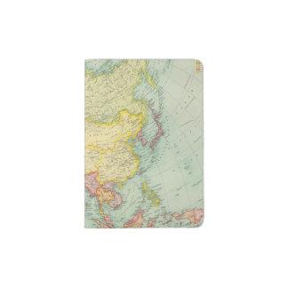 Asia political atlas map passport holder