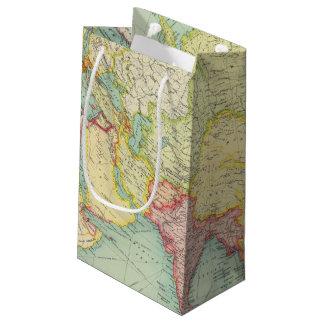 Asia political atlas map small gift bag