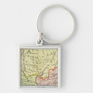 Asia, Russia, China Key Ring