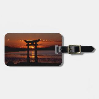 Asia Sunset Luggage Tag