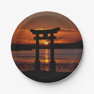 Asia Sunset Paper Plate