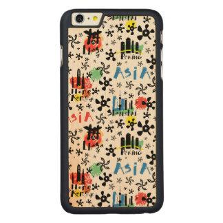 Asia   Symbols Pattern Carved Maple iPhone 6 Plus Case