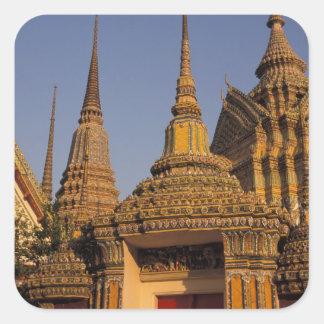 Asia, Thailand, Bangkok, Wat Po, city's oldest Square Sticker