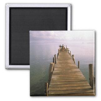 Asia, Thailand, Ko Samui Island. Dock. Fridge Magnet