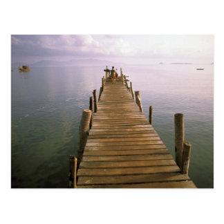Asia, Thailand, Ko Samui Island. Dock. Post Card