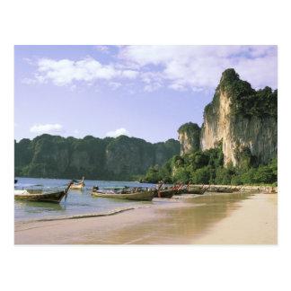 Asia, Thailand, Krabi. West Railay Beach, long Postcard