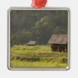 Asia, Thailand, Mae Hong Son, Rice huts in the Silver-Colored Square Decoration