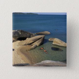 Asia, Thailand, Samui. Beach 15 Cm Square Badge