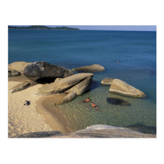 Asia Thailand Samui Beach Postcard