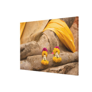 Asia, Thailand, Siam, Buddha at Ayutthaya Stretched Canvas Prints