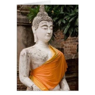 Asia, Thailand, Siam, Buddha at Ayutthaya Card