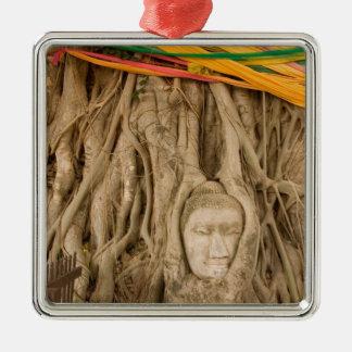 Asia, Thailand, Siam, Buddha in tree ruts at Christmas Ornament
