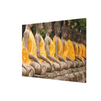 Asia, Thailand, Siam, Buddhas at Ayutthaya Canvas Print