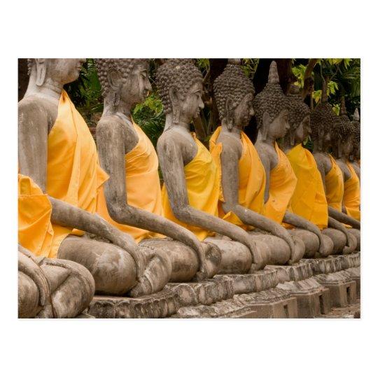 Asia, Thailand, Siam, Buddhas at Ayutthaya Postcard