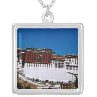 Asia, Tibet, Lhasa, Potala Palace aka Red 2 Silver Plated Necklace