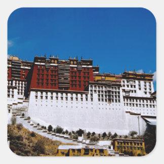 Asia, Tibet, Lhasa, Potala Palace aka Red 2 Square Sticker