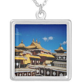 Asia, Tibet, Lhasa, Potala Palace aka Red Silver Plated Necklace