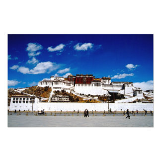 Asia, Tibet, Lhasa, Potala Palace. UNECSO Photo Print