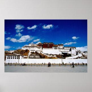 Asia, Tibet, Lhasa, Potala Palace. UNECSO Poster