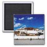 Asia, Tibet, Lhasa, Potala Palace. UNECSO Square Magnet