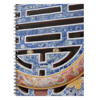 Asia, Vietnam. Decorated window Notebooks