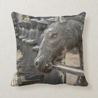 Asia, Vietnam. Figurines and horse statues Cushion