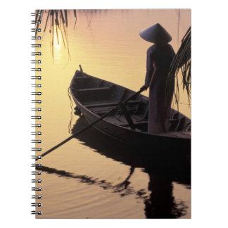 Asia, Vietnam, Mekong Delta, Can Tho. Evening Notebooks