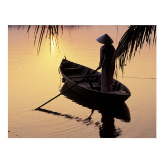 Asia, Vietnam, Mekong Delta, Can Tho. Evening Postcard