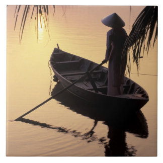 Asia, Vietnam, Mekong Delta, Can Tho. Evening Tile