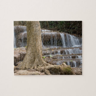 Asia, Waterfall on the border between Thailand Jigsaw Puzzle