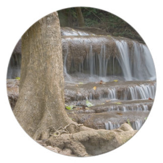 Asia, Waterfall on the border between Thailand Plate
