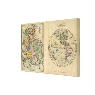 Asia, Western Hemisphere Canvas Print