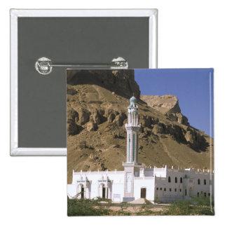 Asia, Yemen, Tarim. White mosque. 15 Cm Square Badge