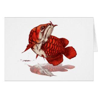 Asian arowana グリーティングカード