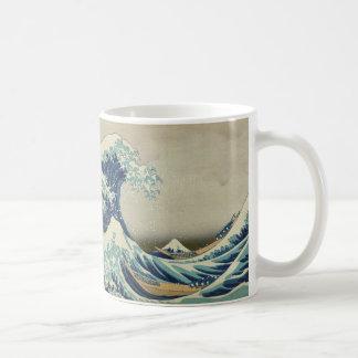 Asian Art - The Great Wave off Kanagawa Basic White Mug